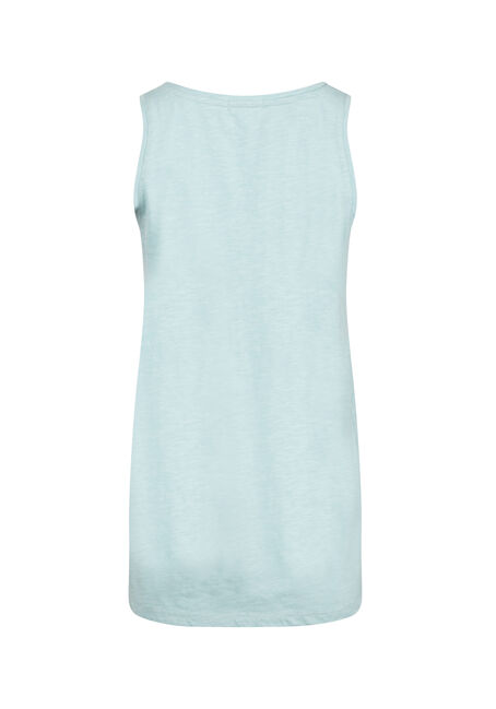 Women's Scoop Neck Tank, AQUA, hi-res