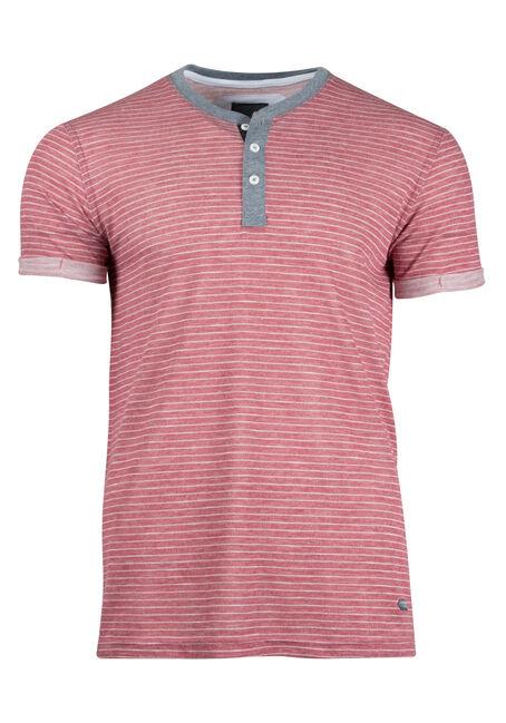 Men's Mini Stripe Henley Tee