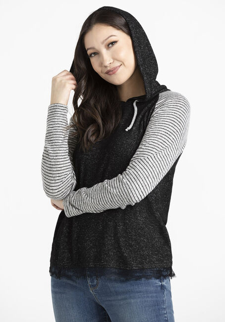Women's Baseball Hoodie With Lace
