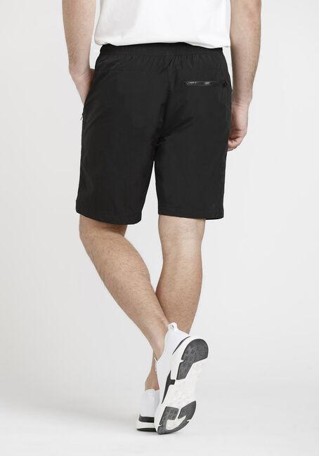 Men's Solid Nylon Short, BLACK, hi-res