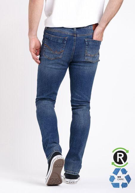 Men's Relaxed Slim Medium Wash Jeans, MEDIUM WASH, hi-res