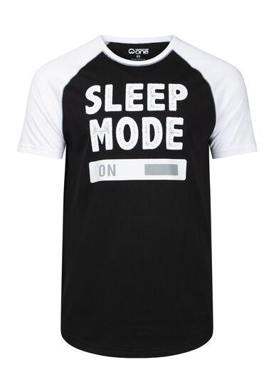 Men's Sleep Mode Tee, BLACK, hi-res