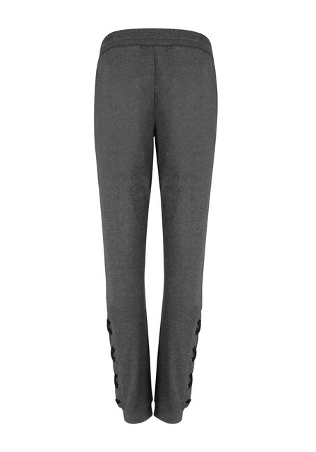 Ladies' Lace Up Bottom Jogger, CHARCOAL, hi-res