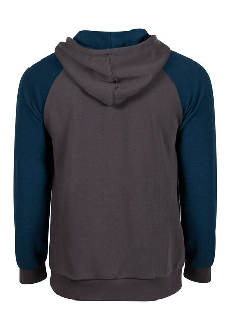 Men's Colour Block Hoodie, TWILIGHT, hi-res