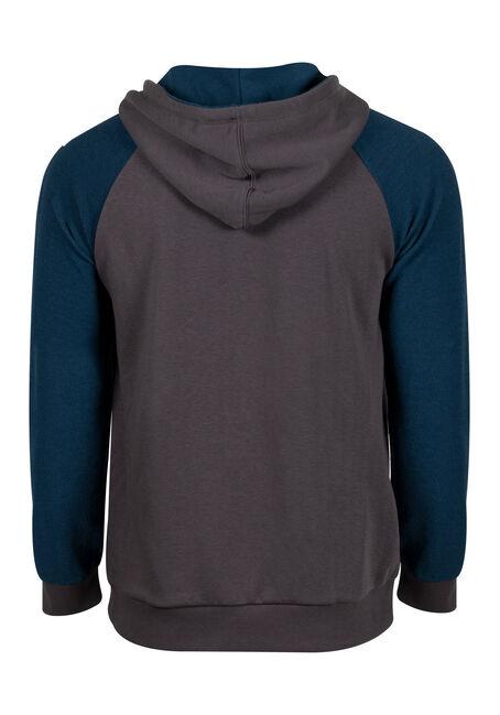 Men's Colour Block Hoodie, TWILIGHT, hi-res