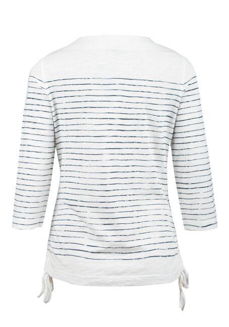 Ladies' Stripe Top, IVORY, hi-res