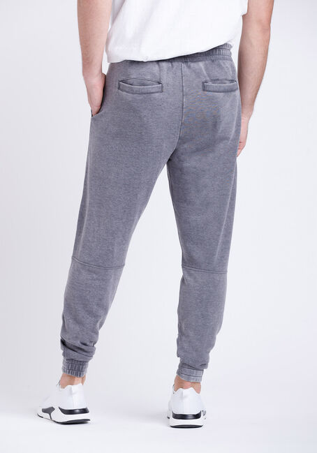 Men's Washed French Terry Moto Jogger, ASH, hi-res