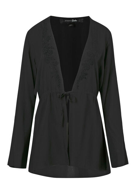 Women's Tie Front Kimono