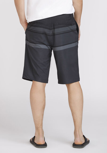 Men's Colour Block Hybrid Short, BLACK, hi-res