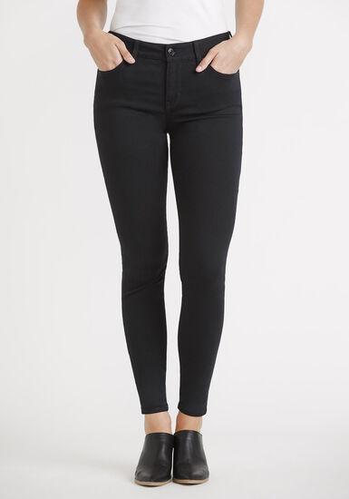 Women's 5 Pocket Black Skinny, BLACK, hi-res