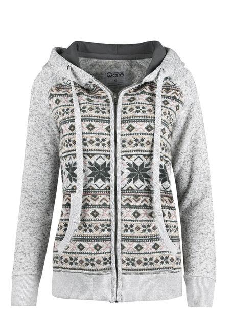Ladies' Nordic Zip Front Hoodie