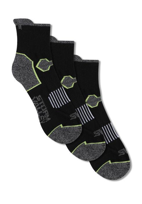 Men's 3 Pair Storm Valley Socks, BLACK, hi-res