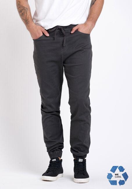 Men's 5 Pocket Dark Grey Twill Jogger