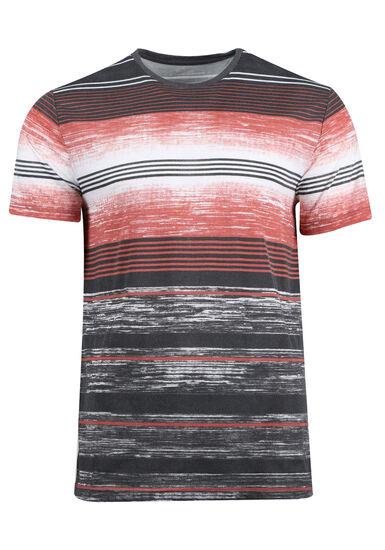 Men's Everyday Striped Tee, BRICK DUST, hi-res