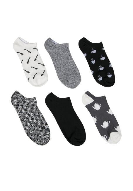 Ladies'  6 Pair Tea Time Socks