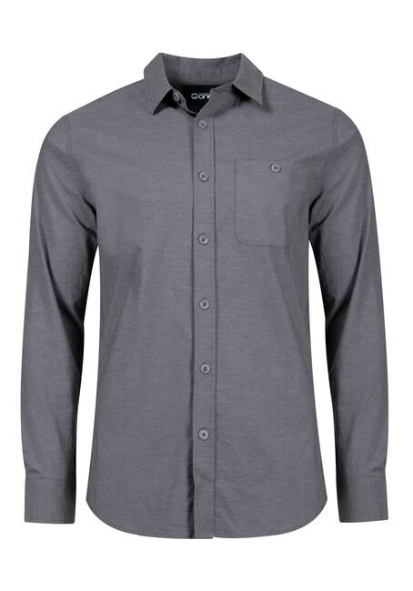 Men's Textured Shirt, ASH GREY, hi-res