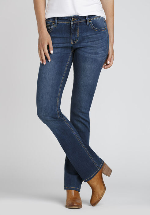 Ladies' Curvy Baby Boot Jeans, DARK WASH, hi-res