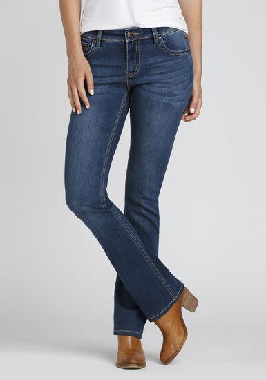 Women's Curvy Baby Boot Jeans, DARK WASH, hi-res