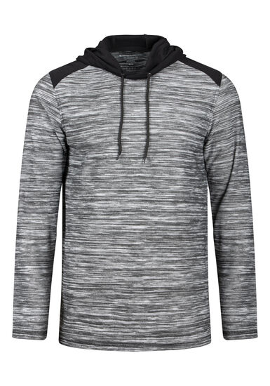 Men's Everyday Colour Block Hooded Tee, GREY, hi-res