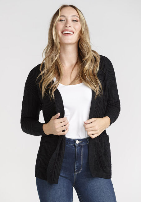Women's Open Cable Cardigan
