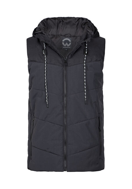 Men's Quilted Hooded Vest