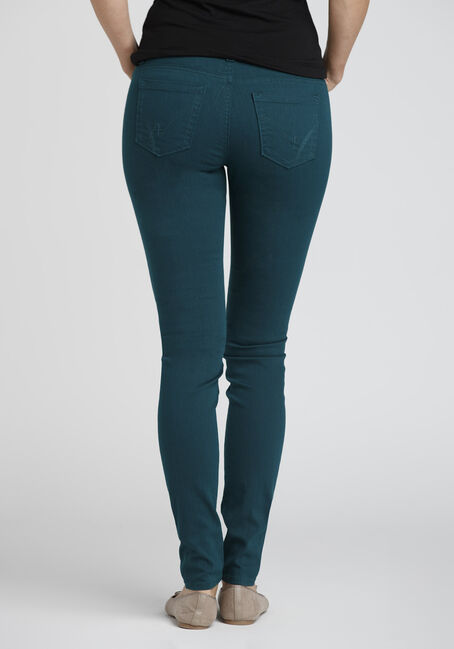 Ladies' Colour Last Skinny Jeans, TEAL, hi-res