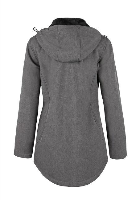 Ladies' Textured Softshell Jacket, CHARCOAL, hi-res