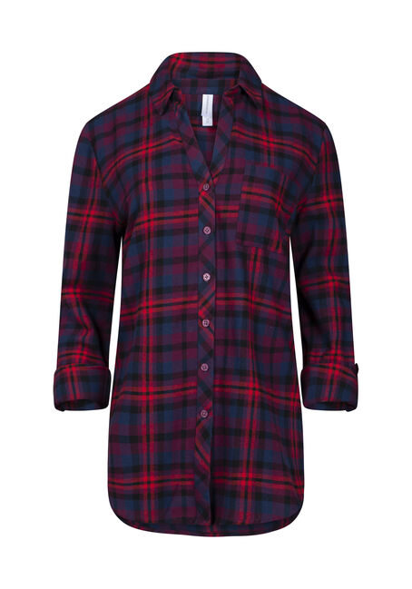 Women's Flannel Boyfriend Shirt