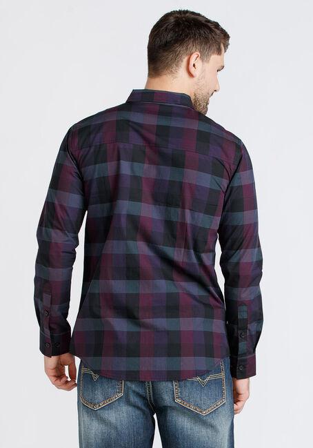 Men's Tonal Plaid Shirt, PURPLE, hi-res