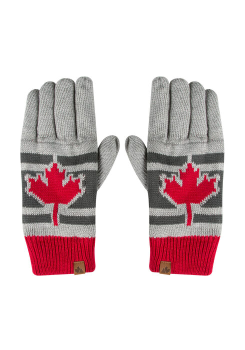 Men's Canada Gloves, GREY, hi-res