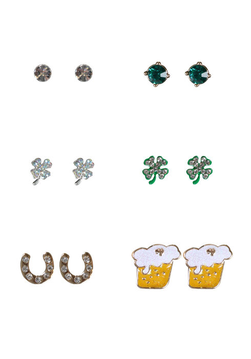 Women's St. Patrick's Day Earring Set, MIXED METALS, hi-res