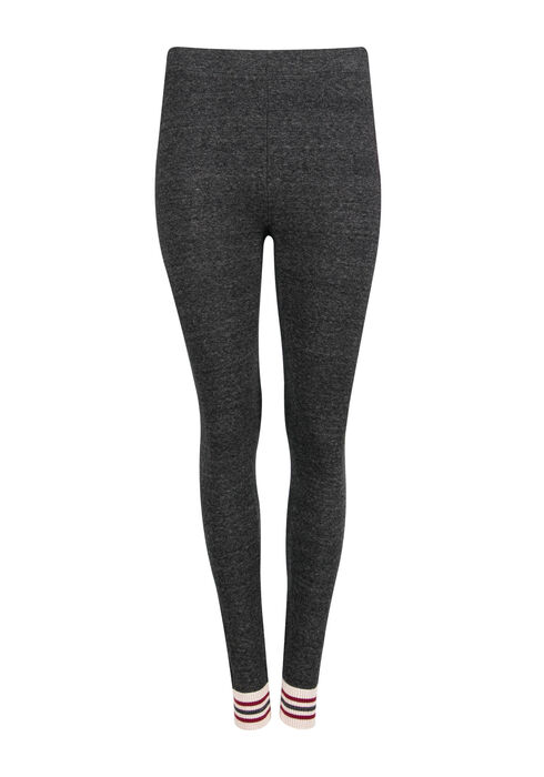 Ladies' Cabin Stripe Legging, CHARCOAL, hi-res