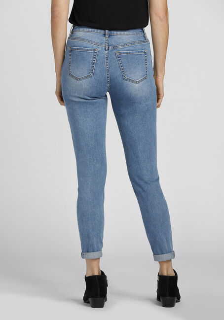 Ladies' Retro High Rise Girlfriend Jeans, LIGHT VINTAGE WASH, hi-res