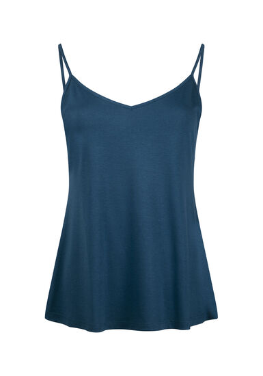 Women's Reversible Relaxed Strappy Tank, TEAL, hi-res
