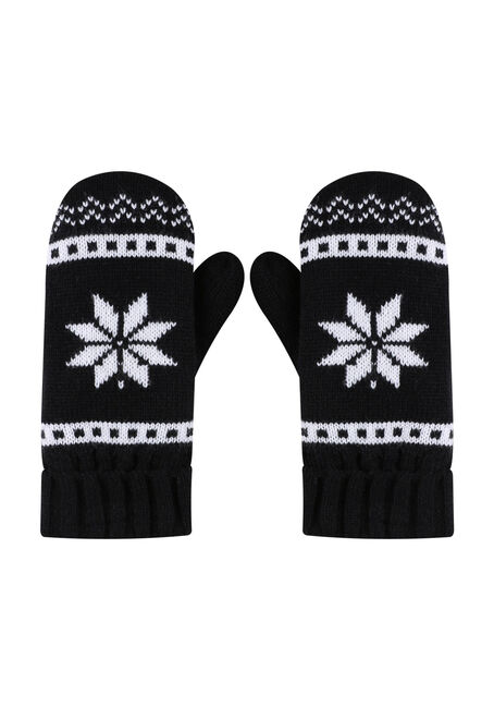 Ladies' Nordic Snowflake Mitts