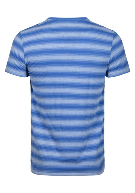 Men's Everyday Striped V-Neck Tee, ROYAL BLUE, hi-res