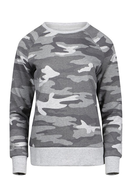 Women's Camo Crew Neck Fleece