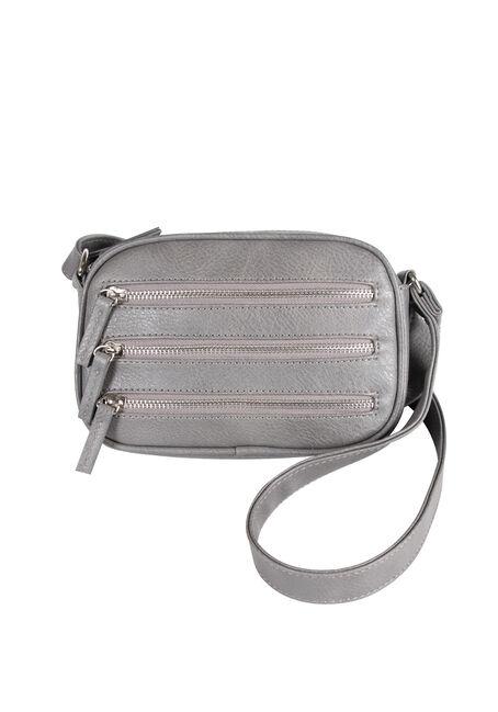 Women's Oval Triple Zipper Cross Body Bag