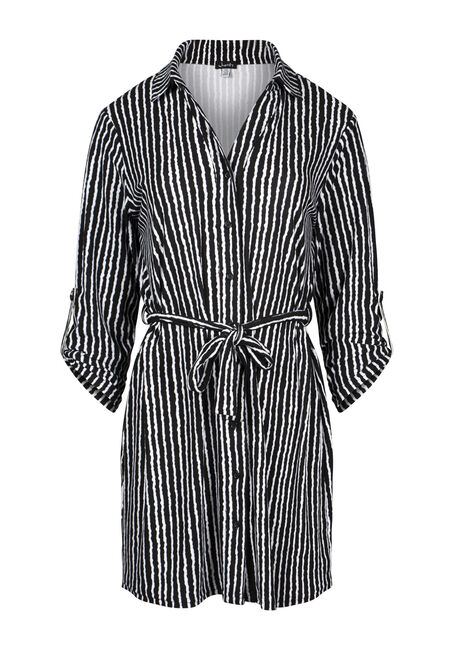 Women's Stripe Shirt Dress