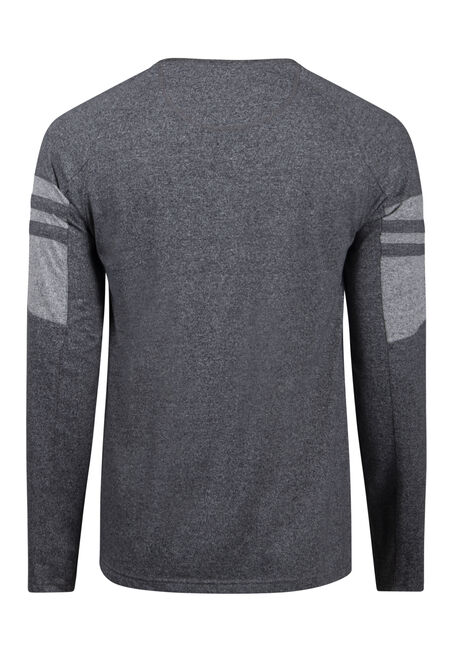 Men's Henley Tee, CHARCOAL, hi-res