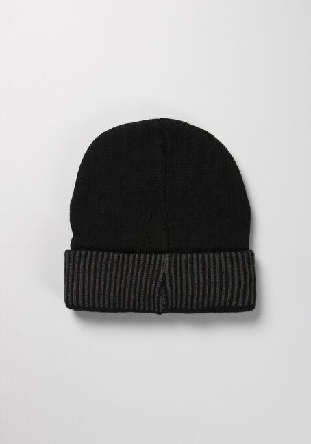Men's Knit Toque, BLACK, hi-res