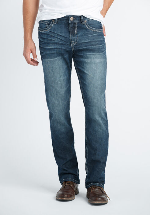 Men's Slim Boot Jeans, DARK WASH, hi-res