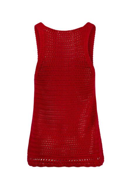 Women's Sweater Tank, RED SEA, hi-res