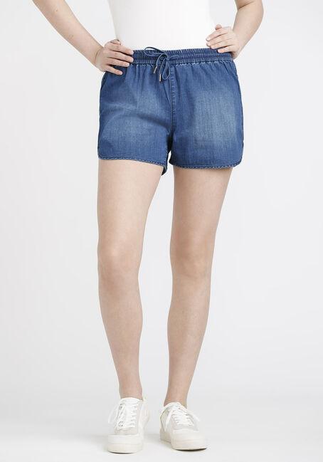Women's Light Weight Stretch Denim Pull-on Short