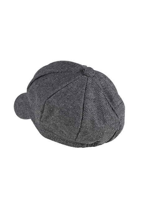 Ladies' Newsboy Hat, CHARCOAL, hi-res