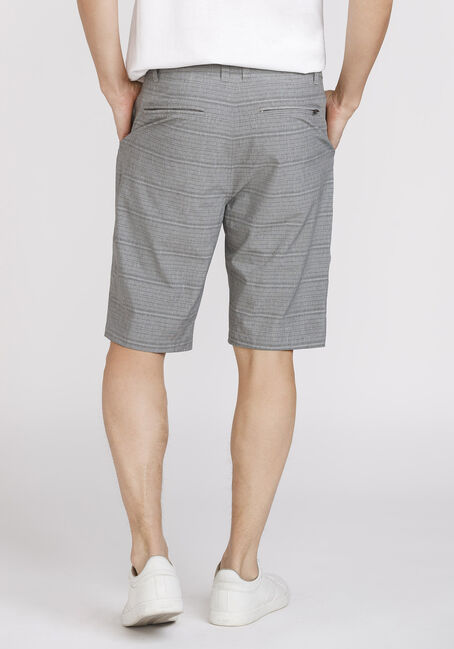 Men's Striped Hybrid Short, GREY, hi-res