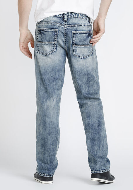 Men's Relaxed Straight Jeans, LIGHT WASH, hi-res