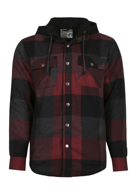 Men's Flannel Plaid Shirt Jacket