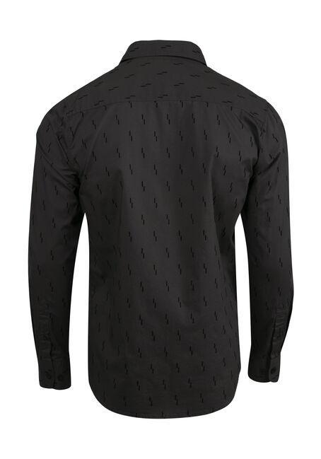 Men's Comfort Stretch Flocked Shirt, GREY, hi-res