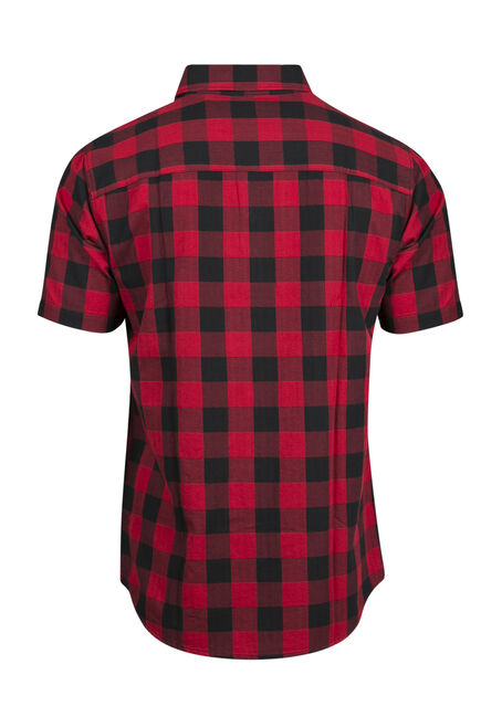 Men's Buffalo Plaid Shirt, RED, hi-res
